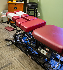Chiropractic adjustment table