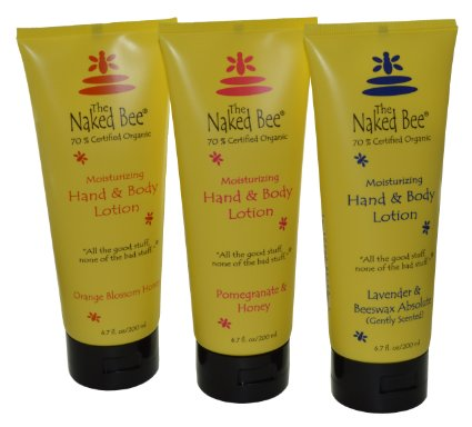 Naked Bee 3 pack Hand & Body Lotion