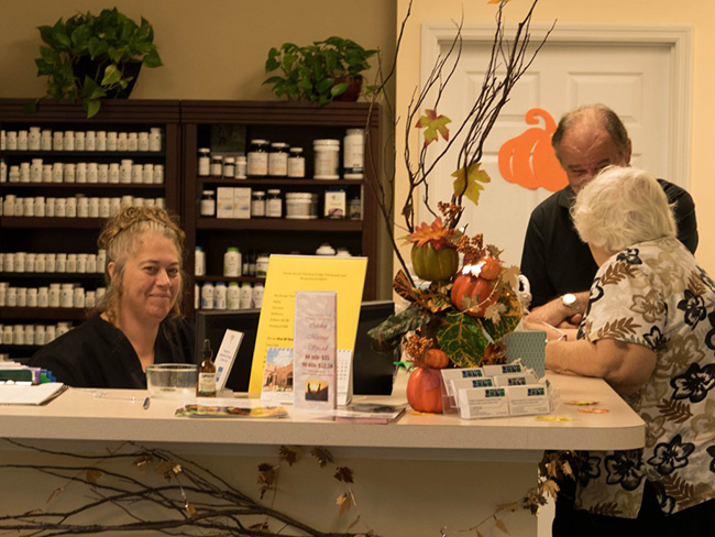 The front desk at Crosby Chiropractic